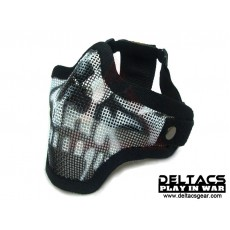 Deltacs CM01 Metal Mesh Lower Half Mask - Skull